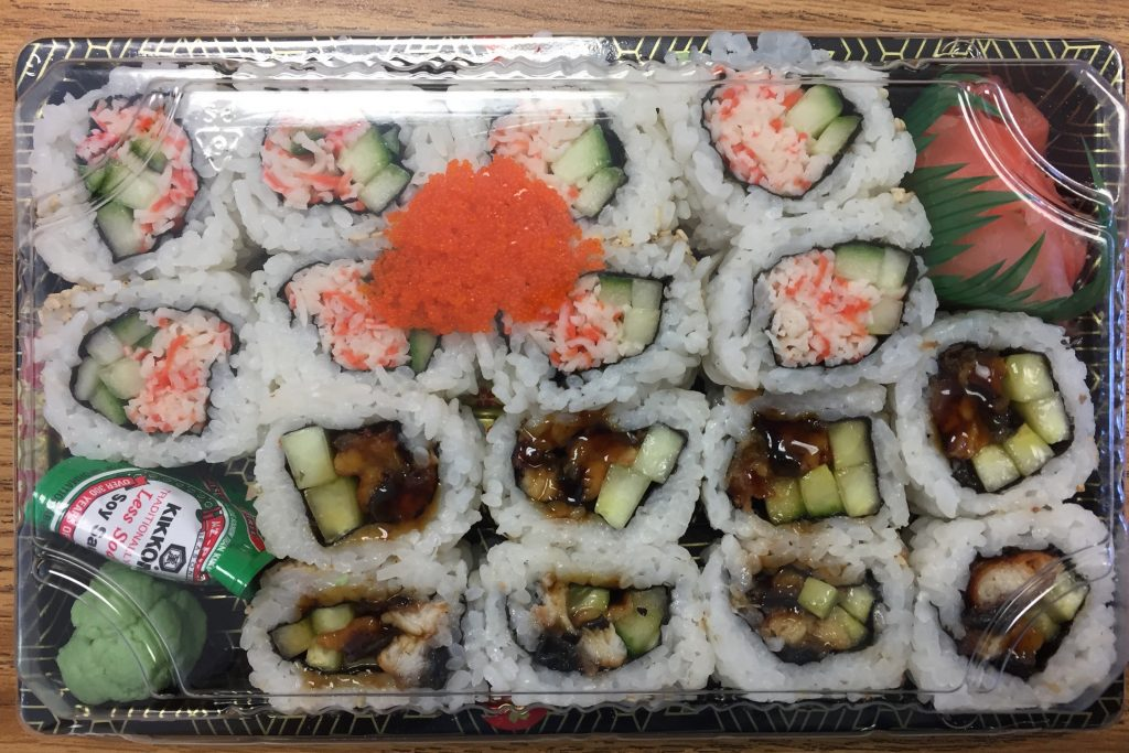 California Roll & Eel Cucumber Roll